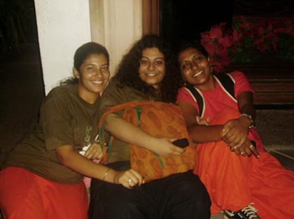 Shreya, Foram and me