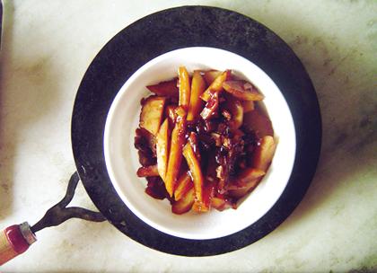chili garlic potato