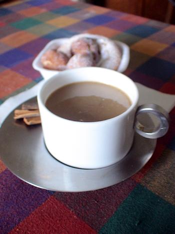sugar donuts with coffee glaze